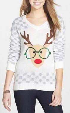 sequin reindeer sweater http://rstyle.me/n/tmkb9r9te