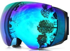 ZIONOR Lagopus X4 Ski Snowboard Snowmobile Goggles with Magnet Fast Lens Changing System 100% UV400 Protection Anti
