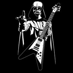 Brand New Mens Adult T Shirt S-XL Vader Death Metal Funny Sci Fi Music Flying V