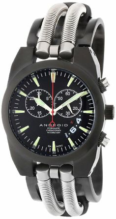 Now THAT'S funky!!  Android Men's AD430BKK Hydraumatic Chronograph Quartz Black Plating Watch: Watches: Amazon.com