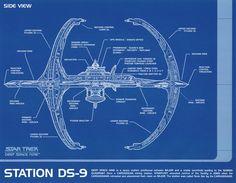 STAR TREK Deep Space Nine Station DS-9