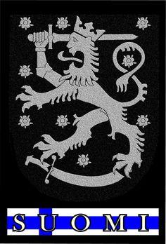 Finland Coat of Arms by subtleandsubversive on DeviantArt Lappland, Finnish Language, Cross Flag, Fjord, Crests, Cool Logo, Coat Of Arms, Black Metal, Norway