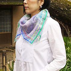 #linen #scarf by #ametandladoue and #silver #enamel #earrings by #joidart