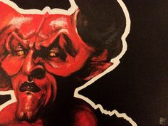 The Darkness Original Art Acrylic Painting Tim Curry by Ckrickett, $100.00