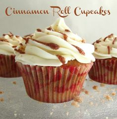 Cinnamon Roll Cupcakes! #recipe #cupcakes