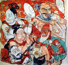 Bezeklik, Xinjiang Uyghur wall paint.