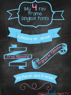 My Favorite Frame Dingbats | Free Fonts - Shes {kinda} Crafty
