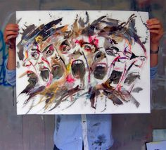 Artist Antoine Stevens Gcse Art, Homework, Art Sketches, Insight, Contemporary Art, Collage, Faces, Artist, Painting