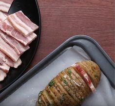 Cocina fácil | Lomejordelaweb.es | Patatas al horno rellenas de Bacon al cebollino!