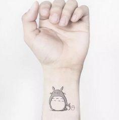 Min 2 orders to Shipping Waterproof Temporary Fake Tattoo Stickers Cute My Neighbor Totoro Cartoon Design Body Art Make Up Tool