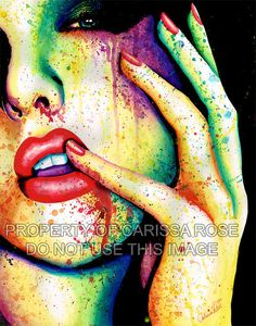 Welcome to the Masquerade Punk Rock Rainbow Fashion by NeverDieArt