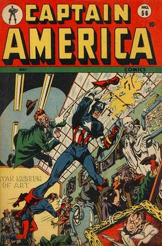 Captain America Comics # 56 by Syd Shores
