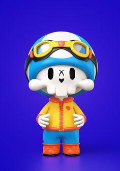 Kids Cartoon Shows, Neo Pop, 3d Artist, Smurfs, Character Design, Skull, Behance, Concept, Drawings