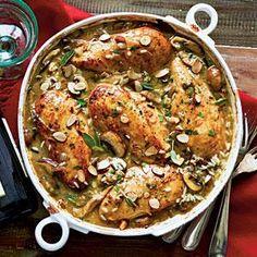 Chicken-Mushroom-Sage Casserole | MyRecipes.com