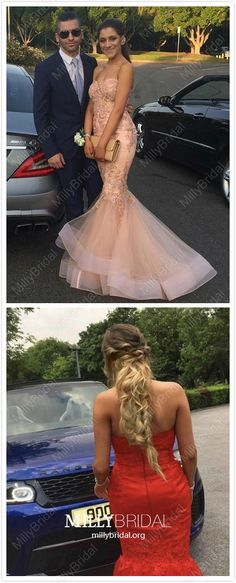 Long Prom Dresses Mermaid, Pink Formal Evening Dresses Lace Military Ball Dresses Sweetheart, New Style Pageant Graduation Party Dresses Organza Pretty Homecoming Dresses, Prom Dresses For Teens, Beautiful Prom Dresses, Prom Dresses Online, Mermaid Prom Dresses, Formal Evening Dresses, School Dresses, Hoco Dresses, Ball Dresses
