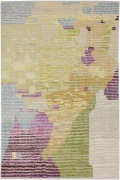 3708 Old Yarn PomPom Rug Abstract 201x303cm