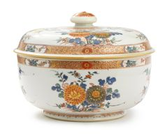 A Chinese Export porcelain famille-verte circular tureen and cover, Kangxi period, circa 1700