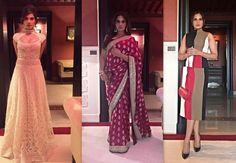 #RichaChadha turned uber-chic for her look in Morocco at Marrakech Film festival, invited as a jury member. She was spotted donning a striped outfit in #SalvatoreFerragamo, #Hermès bag and #Dior shoes. She was then seen spotting a white gown by #AbuJaniSandeepKhosla at the opening night. Attended the royal dinner in an elegant red #BanarasiSari by #SabyasachiMukherjee
