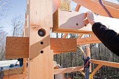 A House With No Nails: Building a Timber-Frame Home