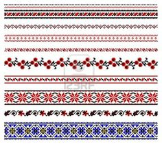 illustrations of ukrainian embroidery ornaments, patterns, frames and borders. Stock Photo - 8877437 Vector - illustrations of ukrainian embroidery ornaments, patterns, frames and borders. Cross Stitch Borders, Cross Stitch Flowers, Cross Stitch Charts, Cross Stitch Patterns, Folk Embroidery, Embroidery Patterns, Knitting Charts, Knitting Patterns, Bordado Popular