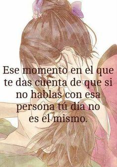 No es el mismo si no hablo contigo♥