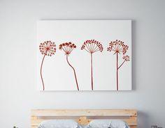 vinilo floral con un ramillete de flores - vinilos decorativos sobre naturaleza, plantas y flores