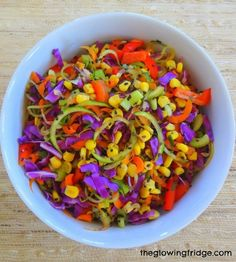 Raw Spicy Zoodle Bowl   19 Healthy And Delicious Ways To Use Your Spiralizer