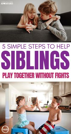 (Inside: Try these 5 simple tips to get siblings to play together nicely without erupting into arguments and fights every two seconds. Newborn Care, Baby Boy Newborn, Baby Boys, Positive Parenting Solutions, Parenting Hacks, Strong Family, Happy Family, Family Life, Sibling Fighting
