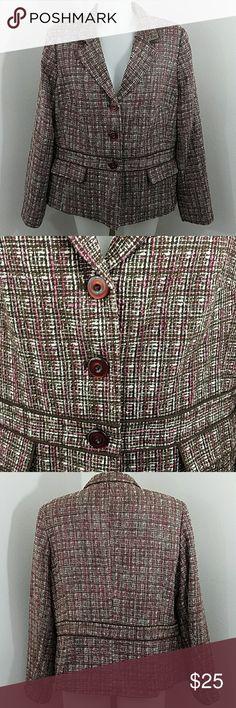 "Sag Harbor Tweed Jacket Blazer Sag Harbor Tweed Jacket Blazer. In great condition. Size 16. Bust 46"" Length 26"" Listing may end at anytime. Sag Harbor Jackets & Coats Blazers"
