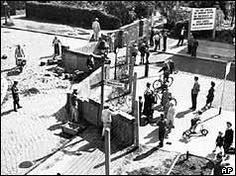 August 13, 1961 - The construction of the Berlin Wall begins by the Soviet bloc, segregating the German city, previously held in four sectors by Allied forces, including the United States. The wall would last for twenty-eight years.