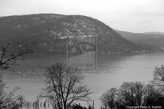 "The Next Step - Picture of the Day: 4/17/13 - ""Bear Mountain, NY in B&W"" A view of the Hudson River, with Bear Mountain rising from its western shoreline beyond, from the Inn on the Hudson in Peekskill, NY."