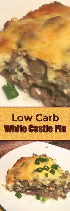 Low Carb White Castle Pie - This is as close as you can get to a White Castle burger when your doing a low carb diet. But you know what? This is really good!
