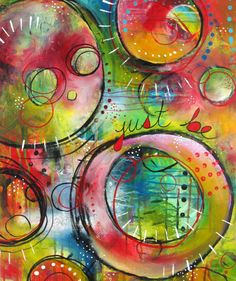 Circles and such vibrant color by Belinda Fireman.