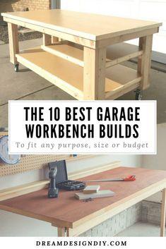 16 Easy Garage Space Saving Ideas In 2019 Workbench Plans
