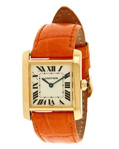 Elegant day timepiece  Cartier Womens 2005 Tank Francaise