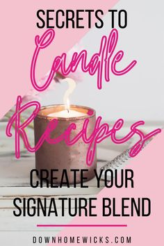 You don't have to use candle wax straight out of the box! Wax blends make better candles. Mixing paraffin and soy candle wax produce a stable blend th… Gel Candles, Paraffin Candles, Soy Wax Candles, Candle Wax, Soy Candle, Diy Candle Tarts, Candle Making Business, Candle Branding, Candle Store