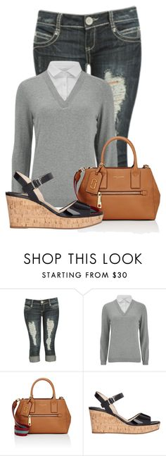 """Untitled #17306"" by nanette-253 ❤ liked on Polyvore featuring Wet Seal, VILA, Marc Jacobs and Prada"