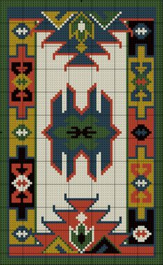 Couristan Himalaya Isfahan Area Rugs, by Antique CrÃ. Cross Stitching, Cross Stitch Embroidery, Embroidery Patterns, Cross Stitch Patterns, Tapete Floral, Tapestry Crochet, Crochet Chart, Loom Beading, Rug Hooking