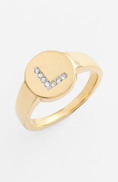 $38.00 Nadri Pavé Initial Ring | Nordstrom