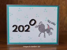 Hee Haw, Donkey Kicks, Foam Adhesive, Card Patterns, Dena, Donkeys, Creative Cards, Stampin Up Cards, Birthday Cards