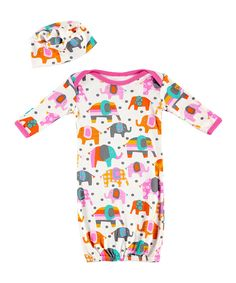 Love this Elle the Elephant Gown & Beanie - Infant by Rockingham Road on #zulily! #zulilyfinds