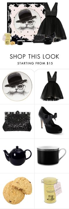 """""""English Tea Party"""" by cris-1121 ❤ liked on Polyvore featuring Rory Dobner, Alice + Olivia, Dolce&Gabbana and White House Black Market"""