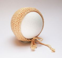 Mützen - Babymütze Haube Gelb - ein Designerstück von pezzoforteprops bei DaWanda