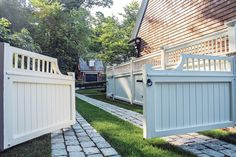 """Landscape architect Gregory Lombardi shares the story of his Bulfinch Award-winning """"Country Gentleman's Estate. Custom Gates, Car Barn, White Fence, Driveway Gate, Traditional Landscape, Breezeway, Garden Gates, House And Home Magazine, Residential Architecture"""