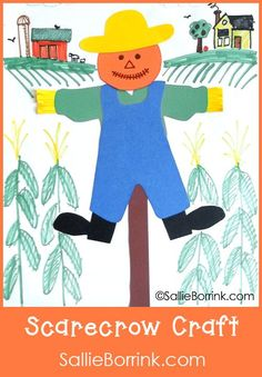 This is an easy scarecrow craft for all the moms and teachers out there who struggle with the artsy side of things. It includes templates for all the parts so your students or children can trace, cut and glue. Easy peasy and they make a great hallway display at school!