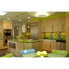Image Detail for - Decorating Kitchen with Green Kitchen Themes Support Back to Nature ...