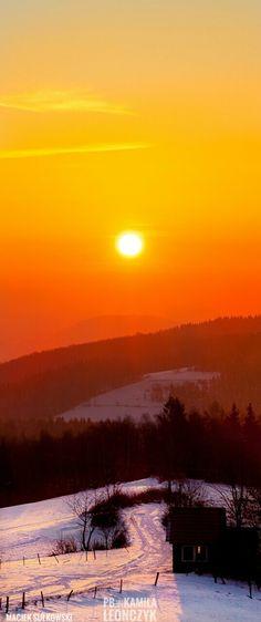 Winter - Poland Poland, Celestial, Sunset, Mountains, Winter, Travel, Outdoor, Winter Time, Voyage