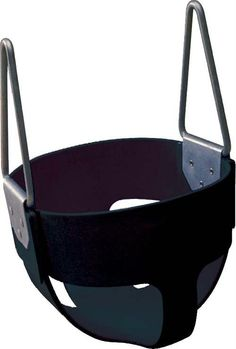 Rubber Enclosed Infant Swing Seat - Black