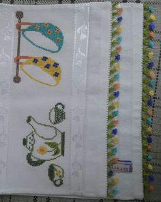 75 TANE KANAVİÇE HAVLU ÖRNEKLERİ   Nazarca.com Napkins, Crossstitch, Crafts, Towels