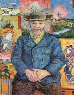 Vincent Van Gogh, Ritratto di père Tanguy, 1887, olio su tela;  Musée Rodin, Parigi.